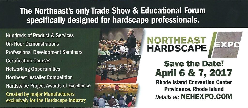 Come visit our booth at Northeast Hardscape Expo
