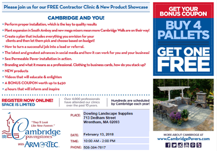 2018 Cambridge Contractor Clinic